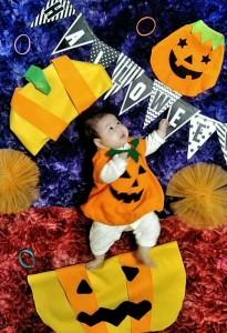 かぼちゃから可愛いかぼちゃ
